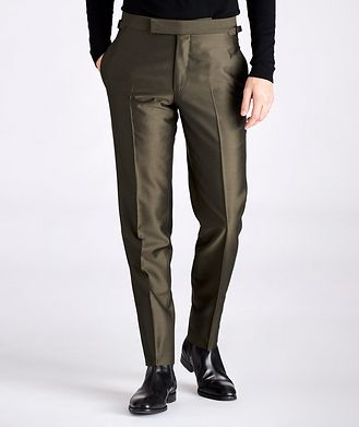 TOM FORD Slim-Fit Wool, Mohair, and Silk Dress Pants