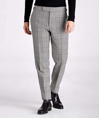 TOM FORD Slim-Fit Checked Wool Dress Pants