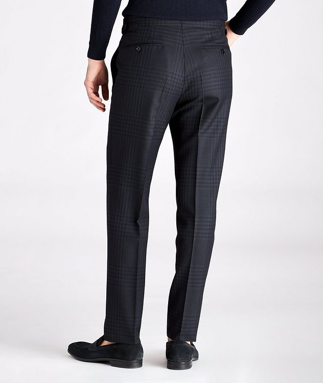 Slim Fit Checked Wool-Mohair Dress Pants picture 2