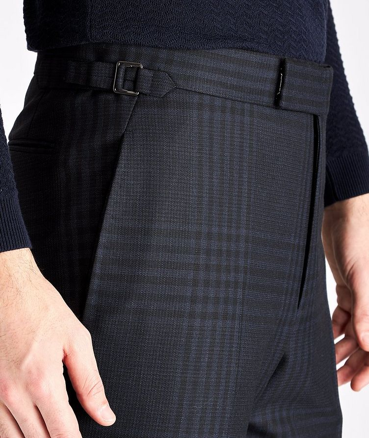 Slim Fit Checked Wool-Mohair Dress Pants image 2