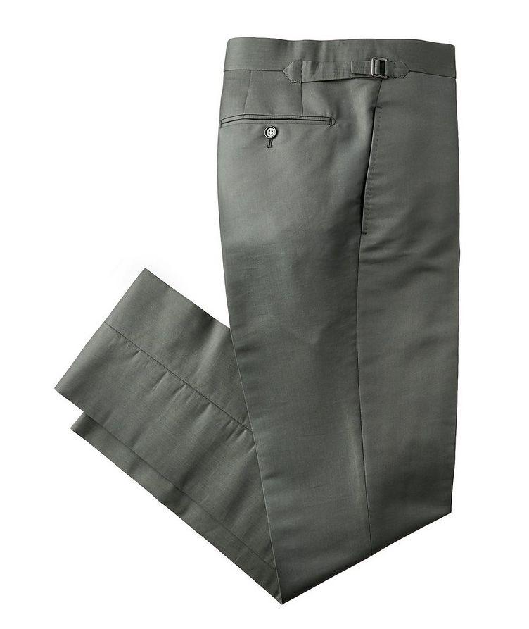 Slim Fit Cotton-Silk Dress Pants image 0