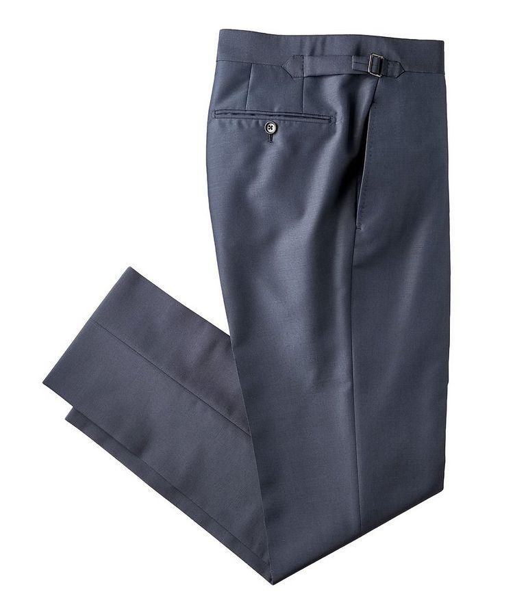 Slim Fit Mohair & Silk Dress Pants image 0