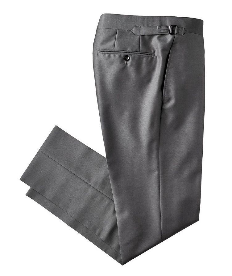 Pantalon habillé en mohair et soie de coupe amincie image 0
