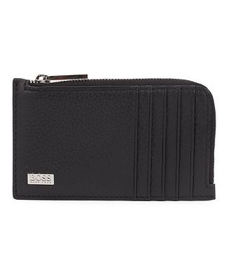 BOSS Grained Italian Leather Wallet