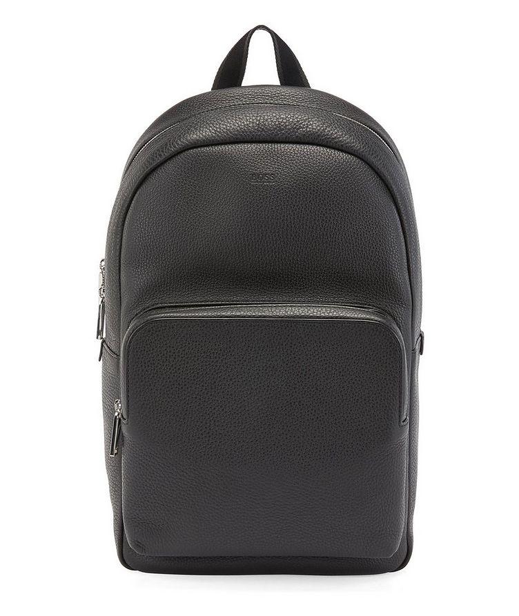 Grainy Italian Leather Backpack image 0
