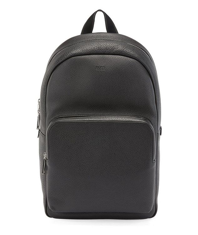 Grainy Italian Leather Backpack picture 1