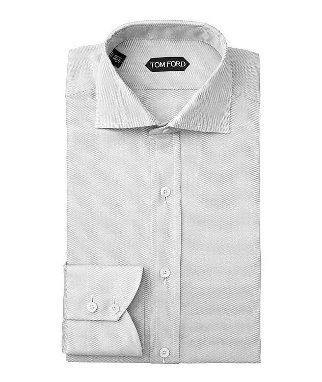 Slim Fit Micro-Checked Dress Shirt picture 1