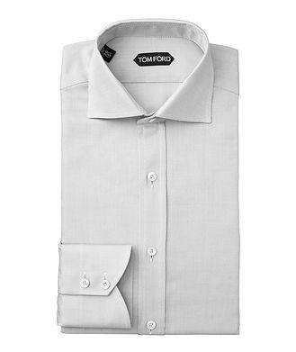TOM FORD Slim Fit Micro-Checked Dress Shirt