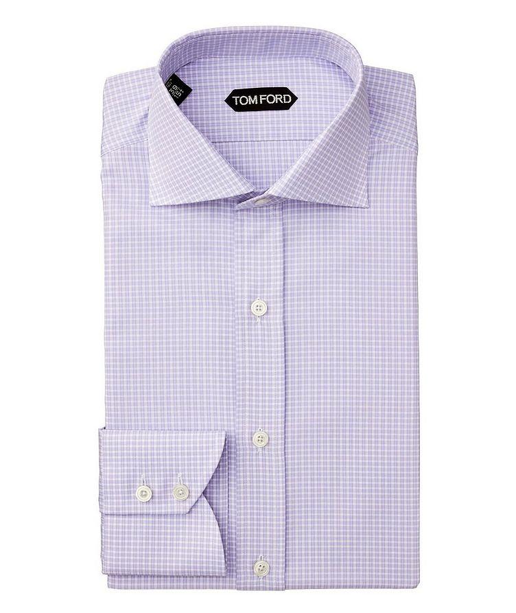 Chemise habillée quadrillée de coupe amincie image 0