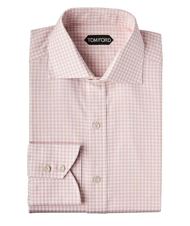Slim Fit Gingham-Checked Dress Shirt picture 1