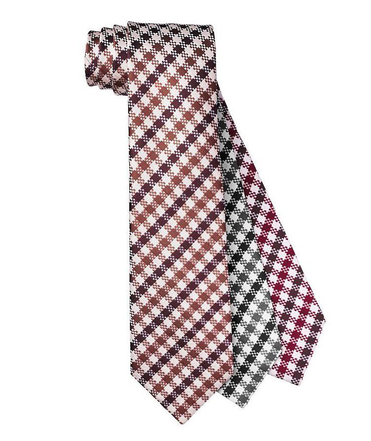 Checkered Silk Tie image 0