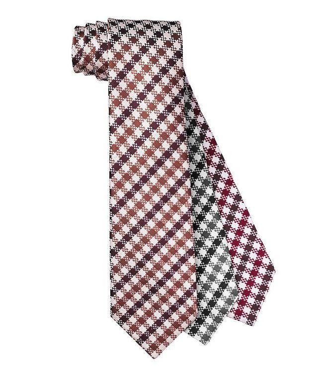 Checkered Silk Tie picture 1