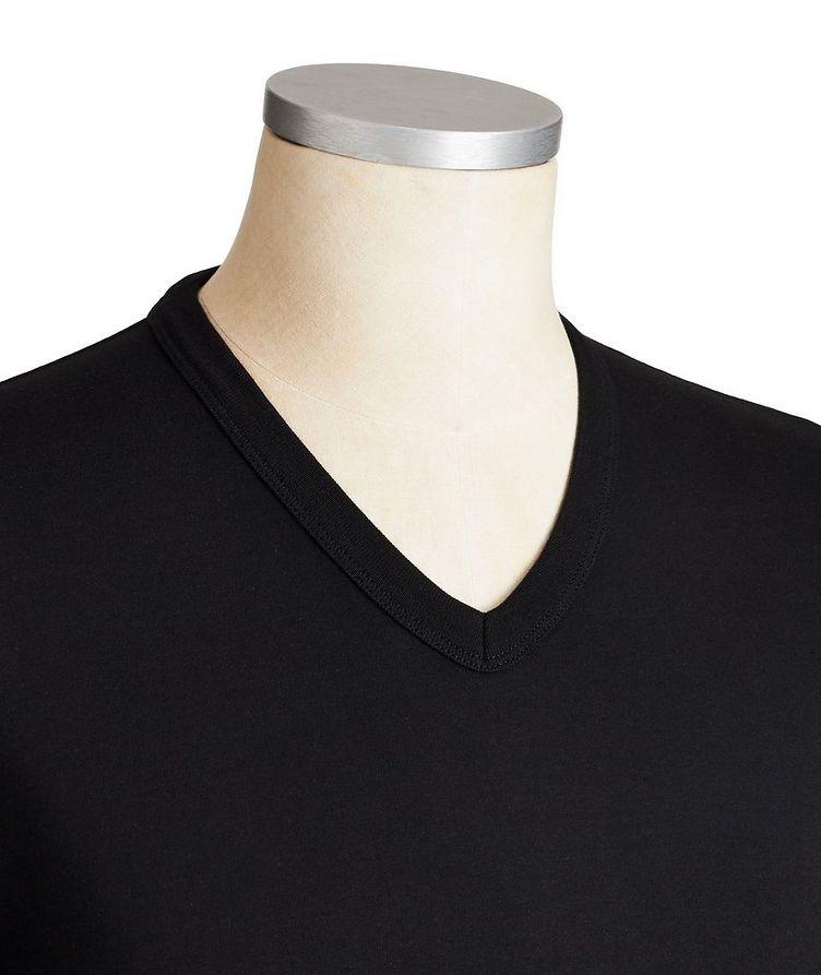 T-shirt en coton à encolure en V image 1