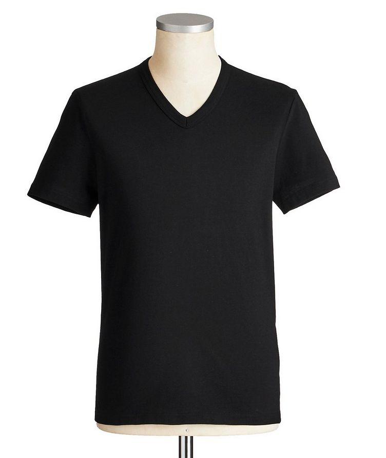 T-shirt en coton à encolure en V image 0