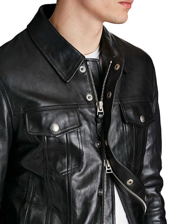 Leather Trucker Jacket picture 3