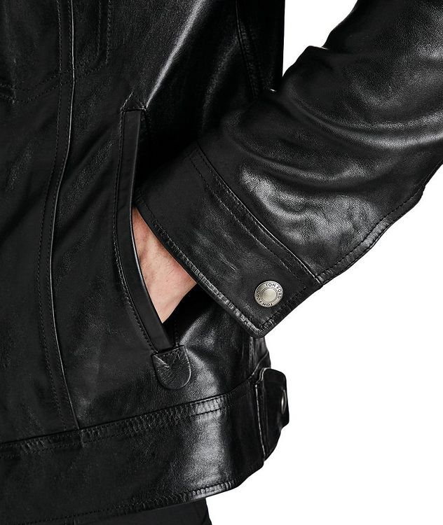 Leather Trucker Jacket picture 5