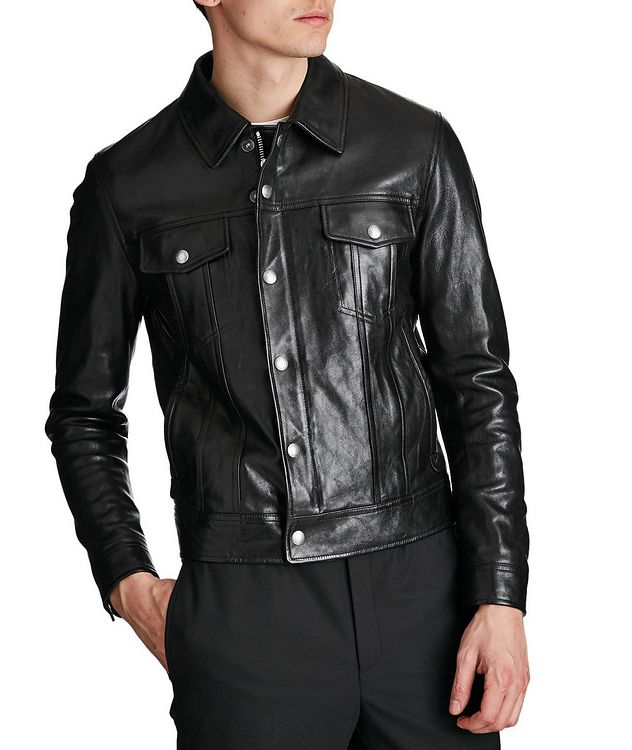 Leather Trucker Jacket picture 1