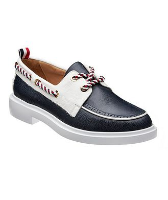 Thom Browne Leather Boat Shoes