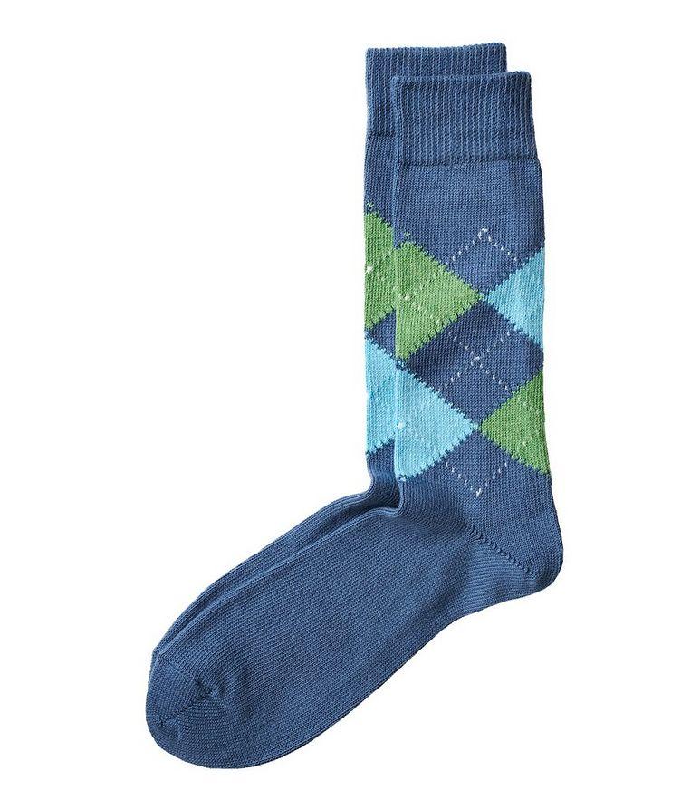 Argyle Stretch-Cotton Socks image 0