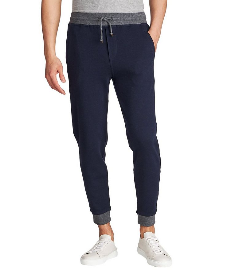 Stretch-Cotton Track Pants image 0