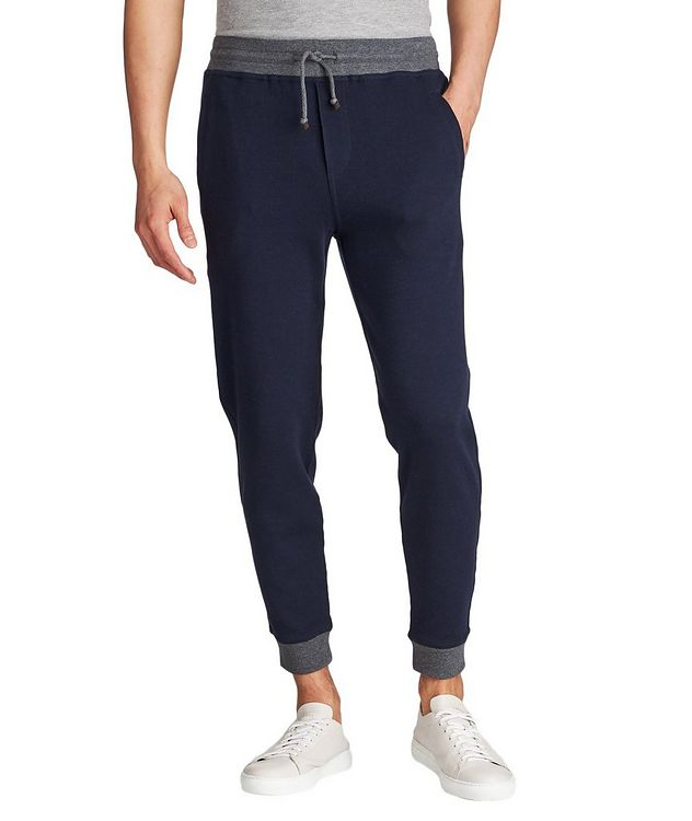 Stretch-Cotton Track Pants picture 1