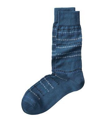 Paul Smith Geometric Printed Stretch-Cotton Socks