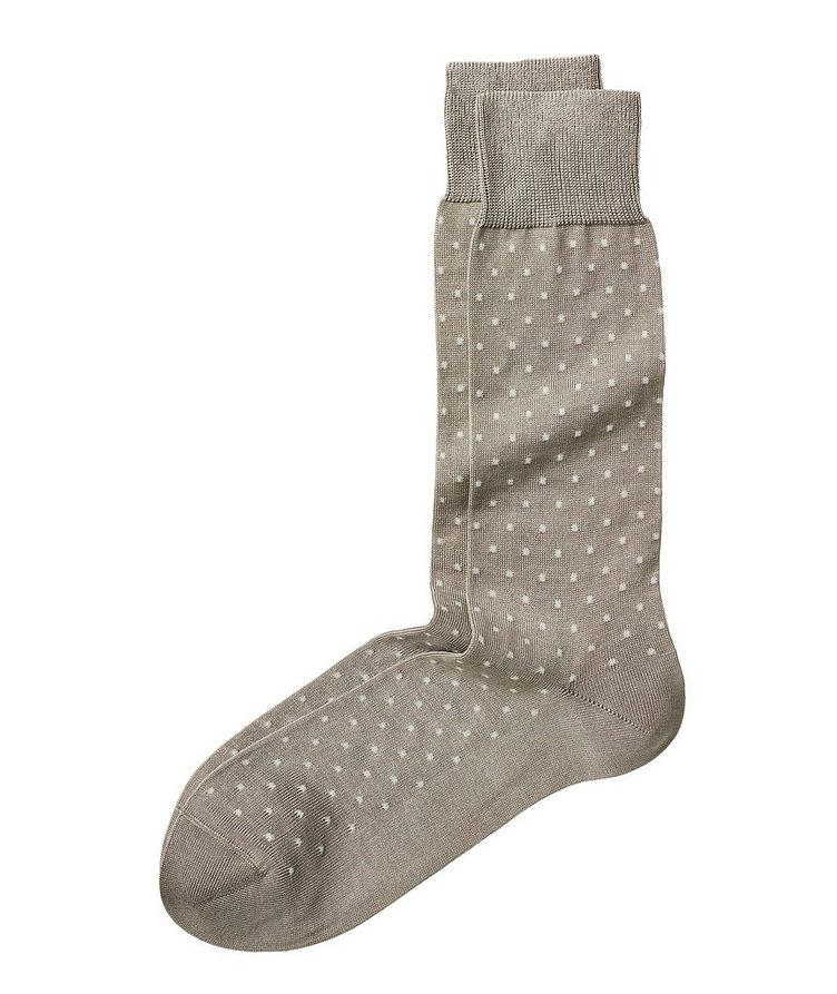 Pin Dot Stretch-Cotton Socks image 0