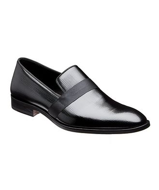 Christopher Bates for Harry Rosen Embossed Patent Loafers