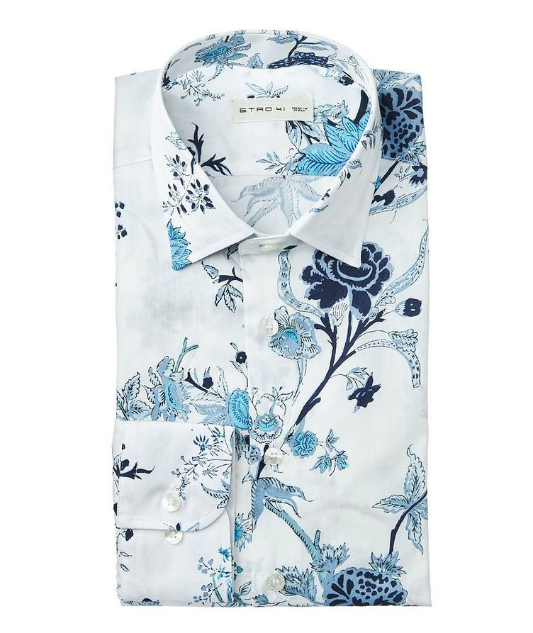 Botanical-Printed Cotton Shirt image 0