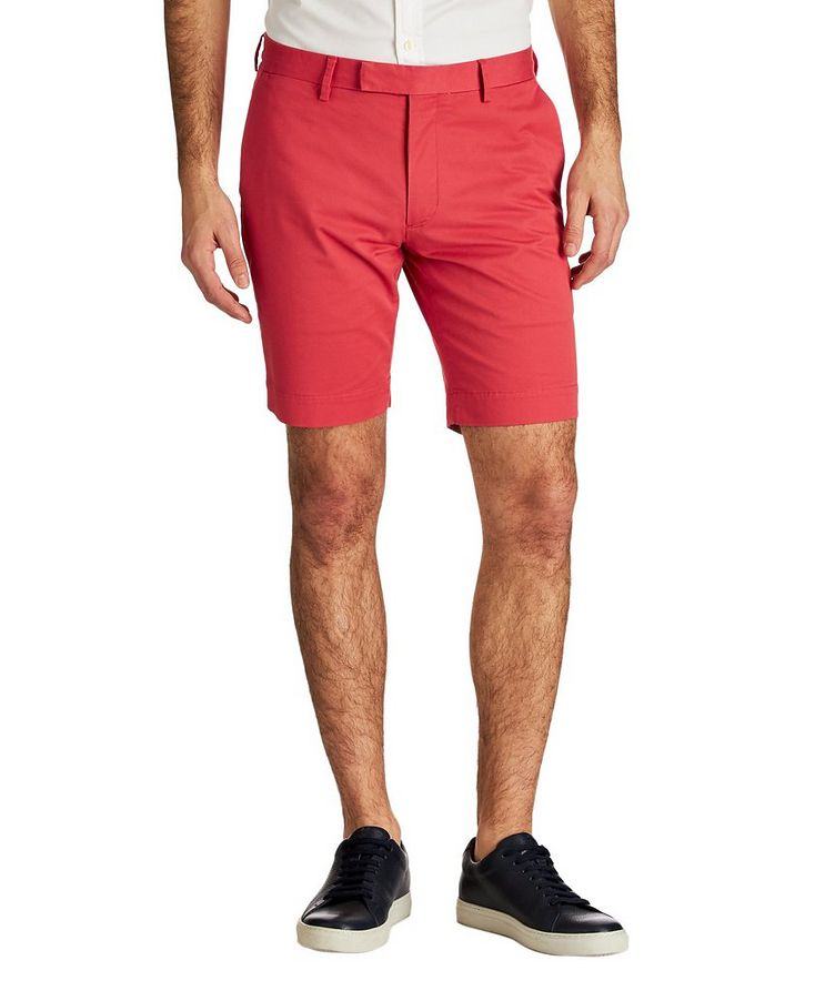 Stretch-Cotton Twill Shorts image 0