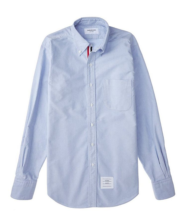 Grosgrain-Trimmed Chambray Shirt image 1