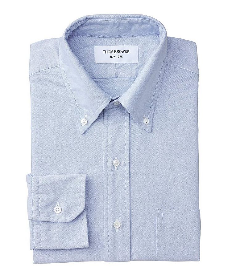 Grosgrain-Trimmed Chambray Shirt image 0
