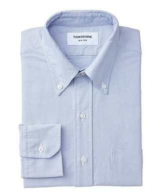 Thom Browne Grosgrain-Trimmed Chambray Shirt