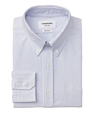 Thom Browne Grosgrain-Trimmed Cotton Shirt