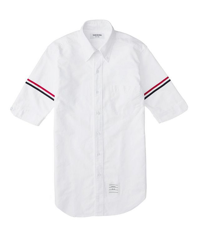 Short-Sleeve Grosgrain-Trimmed Shirt picture 2