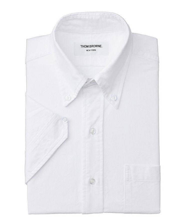 Short-Sleeve Grosgrain-Trimmed Shirt image 0
