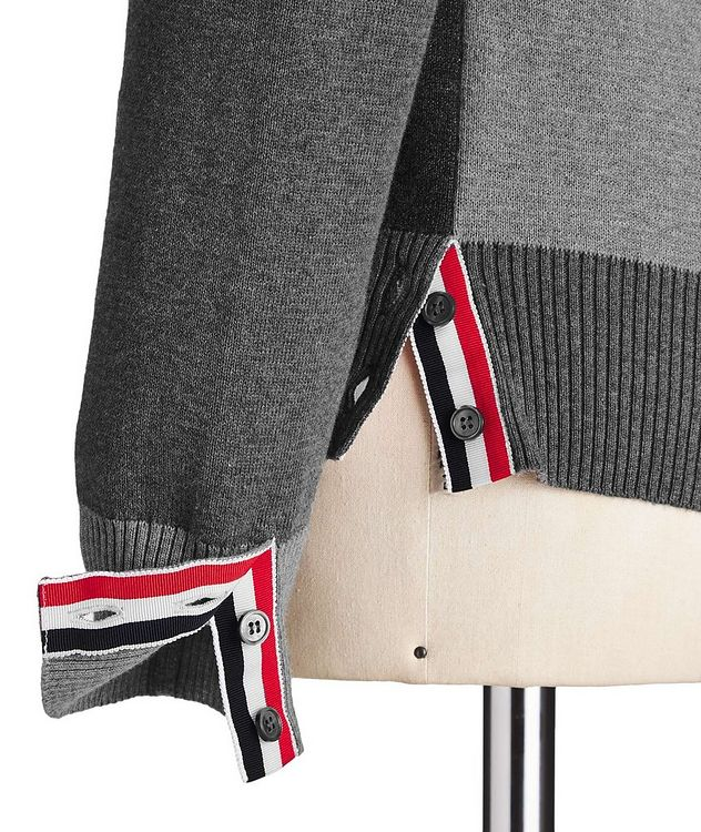 Colour-Blocked Knit Cardigan picture 3
