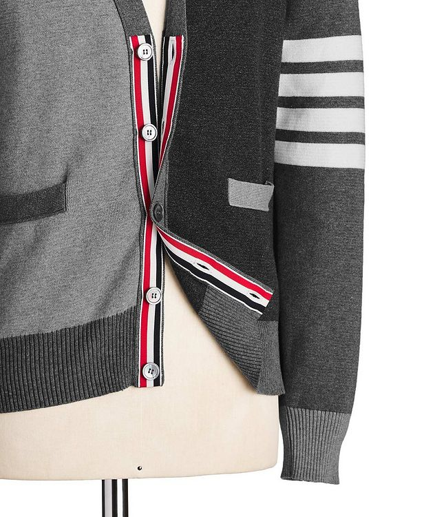 Colour-Blocked Knit Cardigan picture 4
