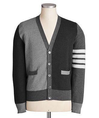 Thom Browne Colour-Blocked Knit Cardigan