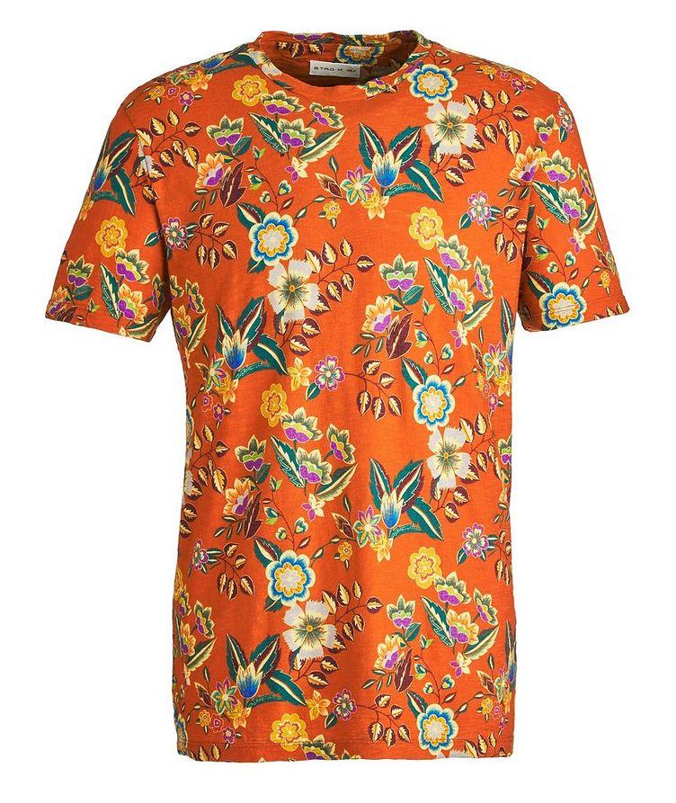 Botanical-Printed Cotton T-Shirt image 0