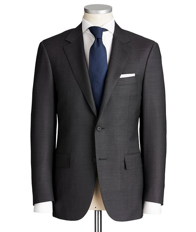 Contemporary Fit Chevron-Printed Stretch-Wool Suit picture 1