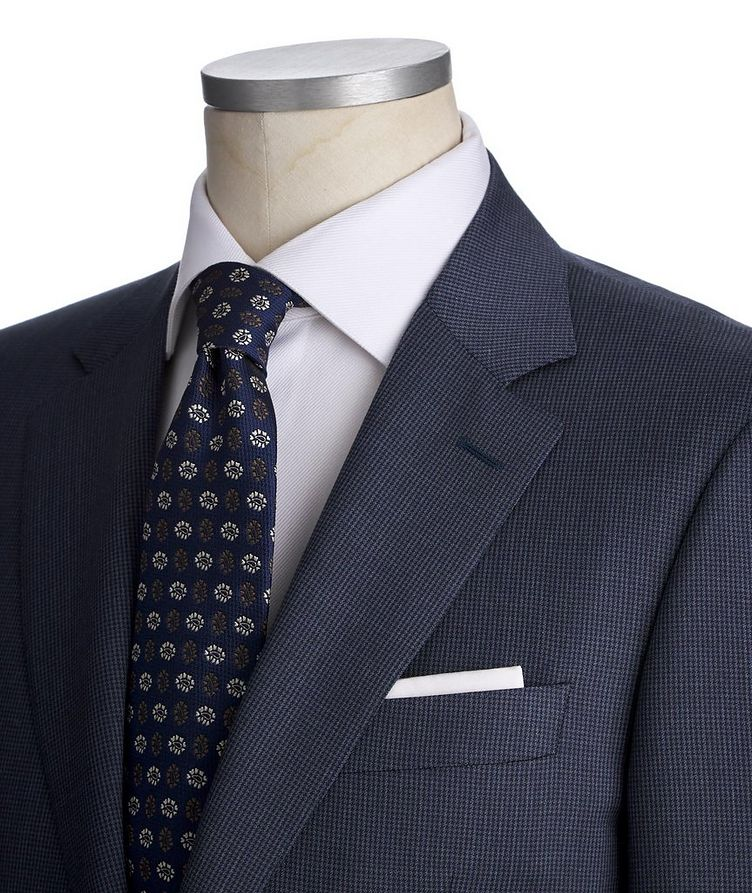 Contemporary Fit Houndstooth Stretch-Wool Suit image 1