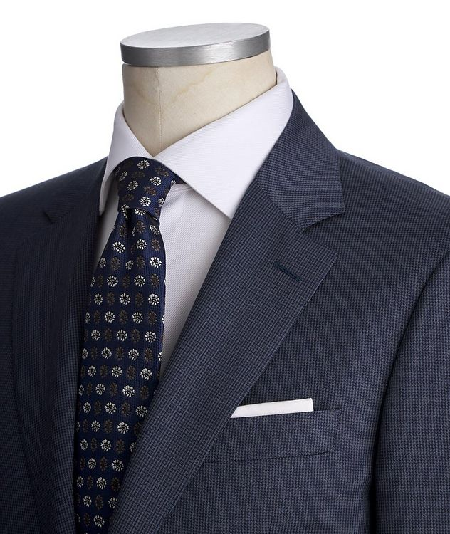 Contemporary Fit Houndstooth Stretch-Wool Suit picture 2