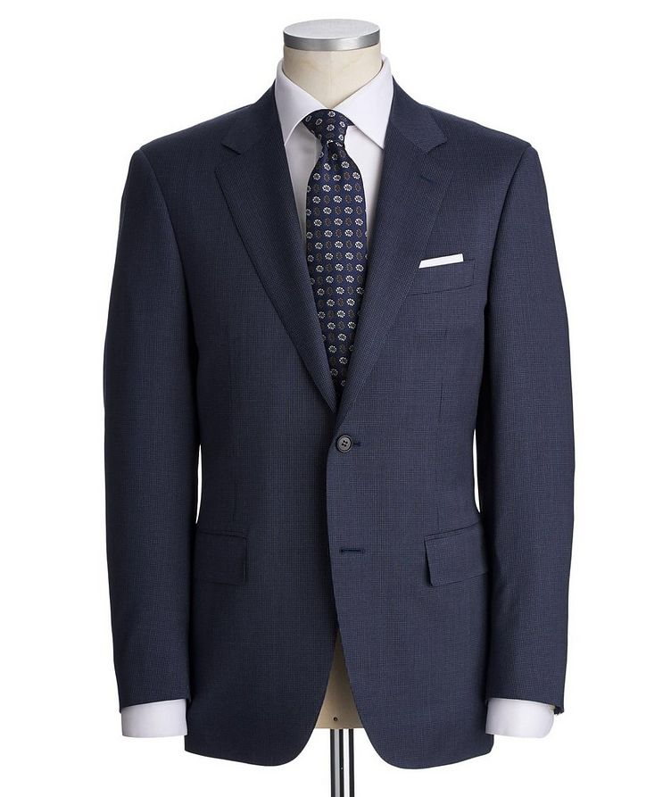 Contemporary Fit Houndstooth Stretch-Wool Suit image 0