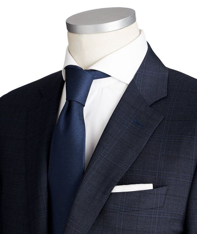 Contemporary Fit Checked Stretch-Wool Suit picture 2