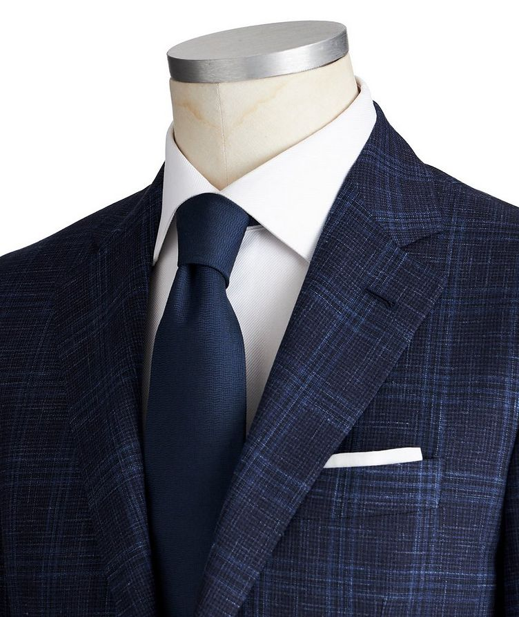 Kei Checked Wool, Silk & Linen Suit image 1