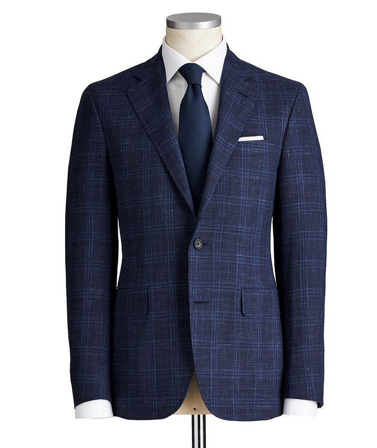 Kei Checked Wool, Silk & Linen Suit image 0