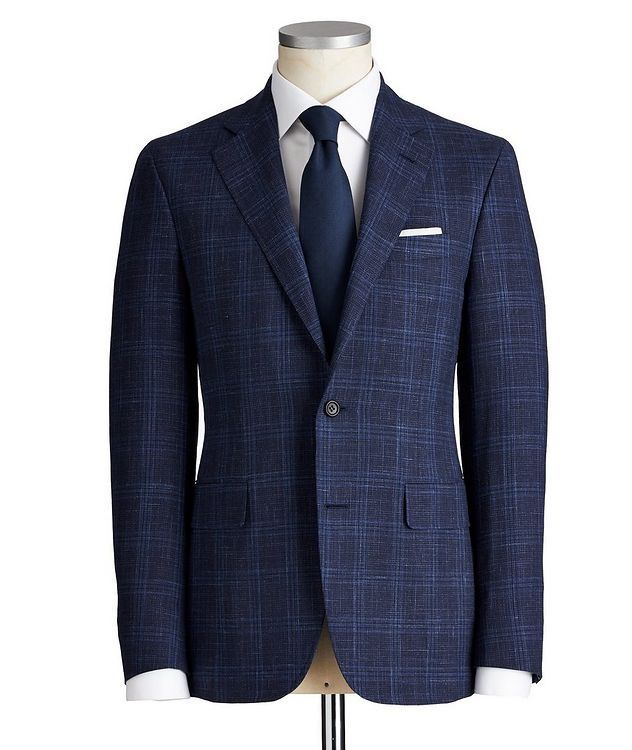 Kei Checked Wool, Silk & Linen Suit picture 1