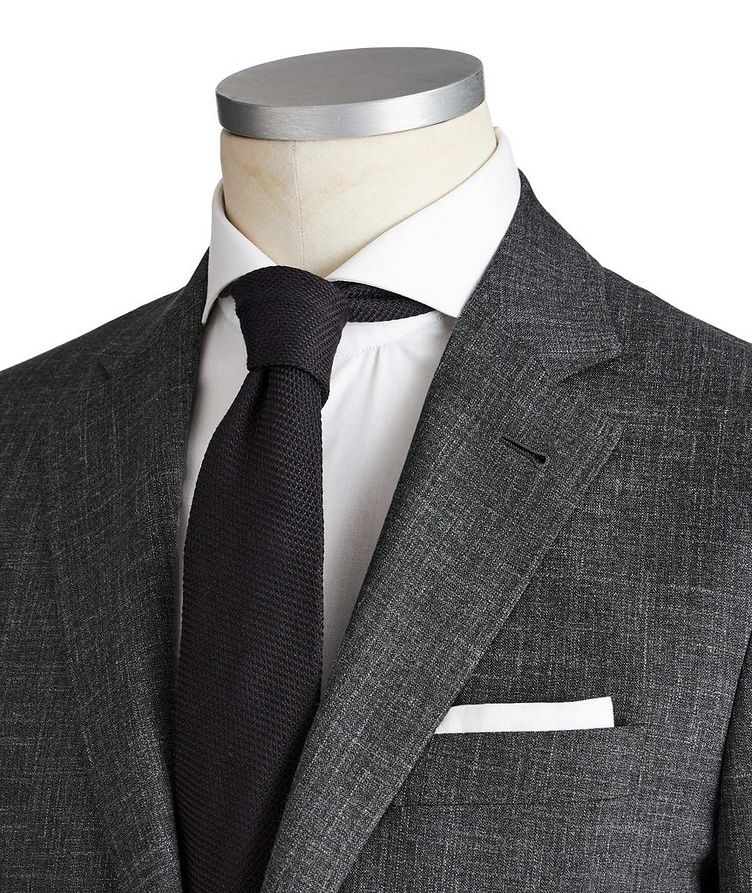 Kei Crosshatched Wool, Silk & Linen Suit image 1