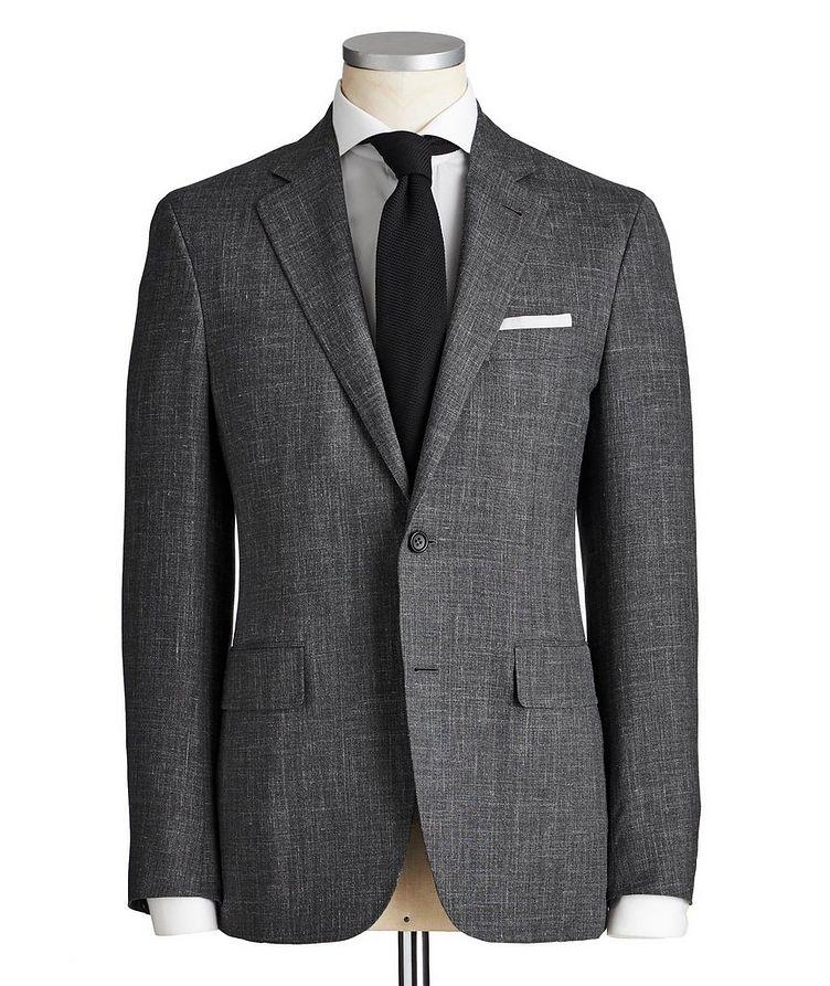 Kei Crosshatched Wool, Silk & Linen Suit image 0